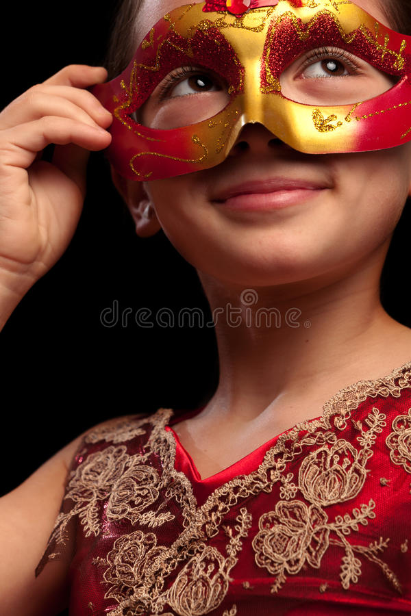 Red Mask stock photos