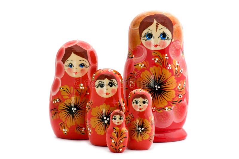 Red Matrioshka Close Up Stock Image