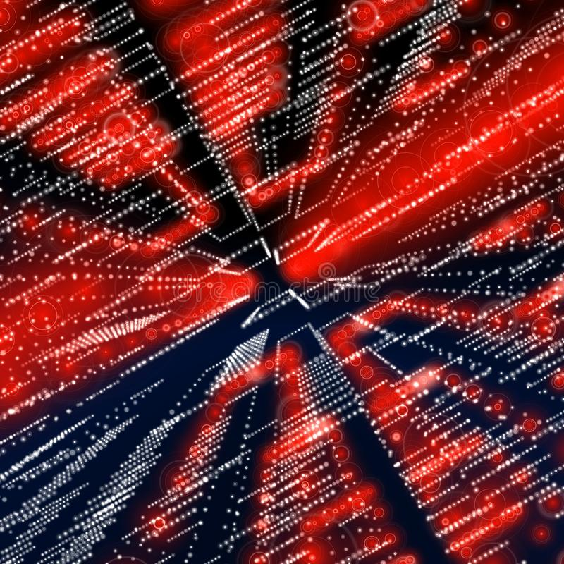 Red matrix. Ready to use for designers and publishers royalty free stock photography