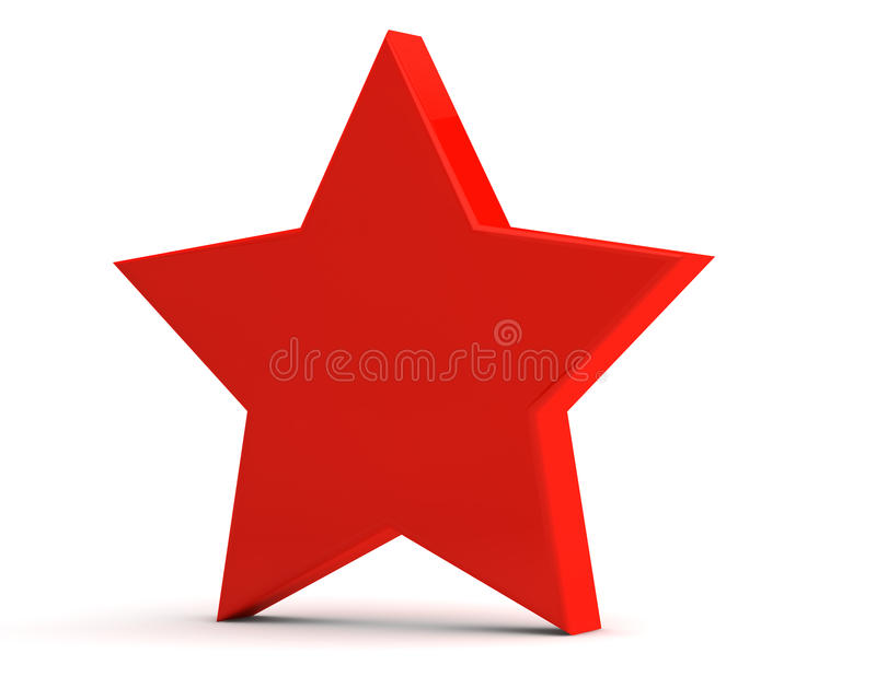 Download Red matte star stock illustration. Image of glossy, luminous - 17988321