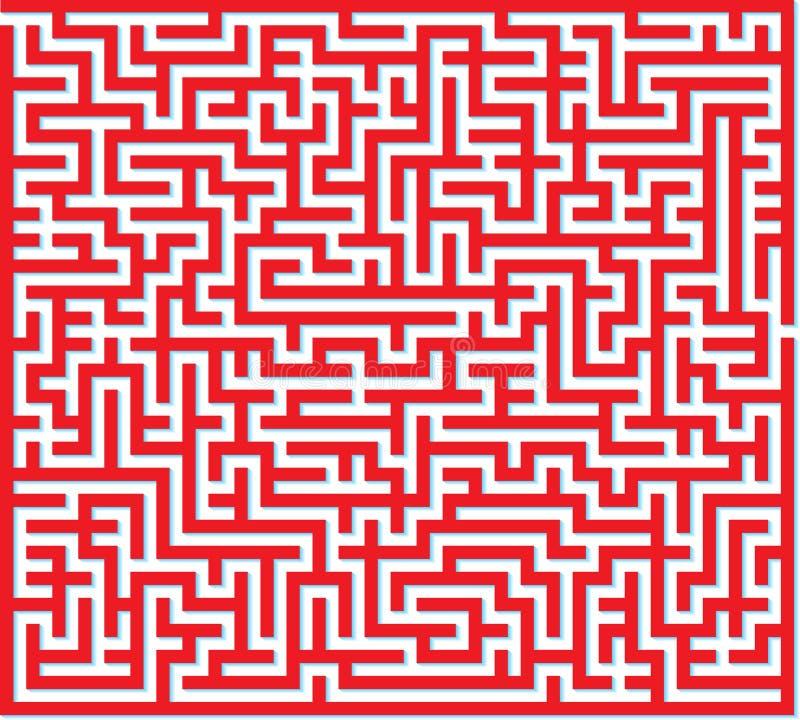 Download Red Maze stock vector. Illustration of challenge, brainteaser - 30327155