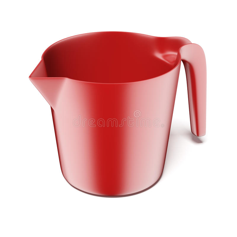 Red Measuring Plastic Bowl Stock Photography