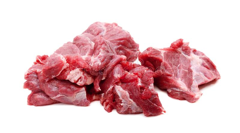 Red meat. A red meat with rosemary isolated on white background stock image