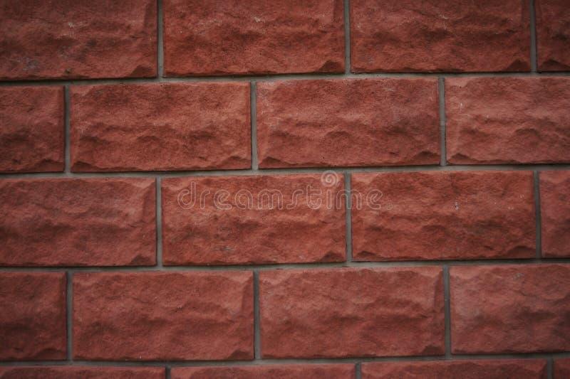 red med den vita skarven Textur f?r r?d tegelsten Orange tegelstenar f?r terrakotta Bakgrund bakgrund royaltyfri illustrationer