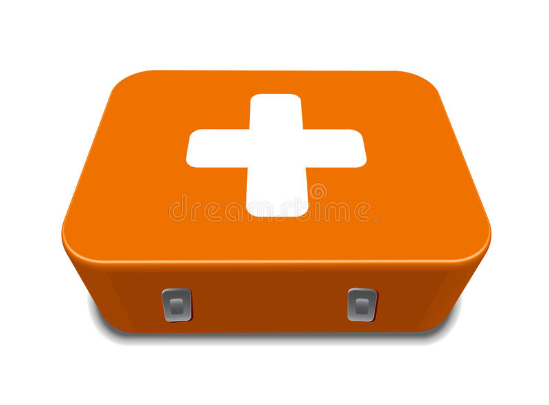 Red medical box kit sign royalty free stock image