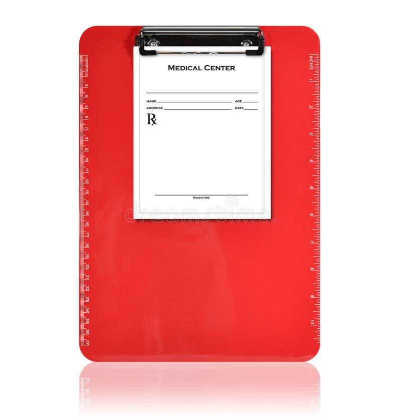 Download Red Medical Prescription Clipboard Stock Image - Image: 12433975