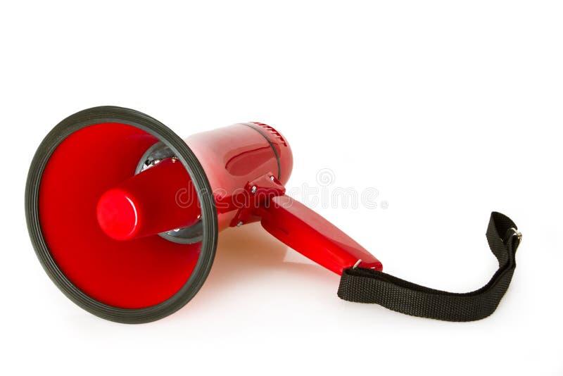 Red megaphone stock image