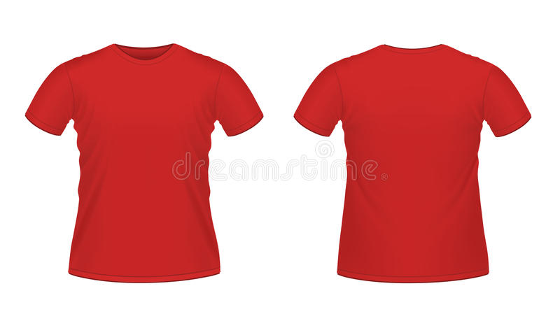 Download Red men's T-shirt stock vector. Image of blank, isolated - 19475777