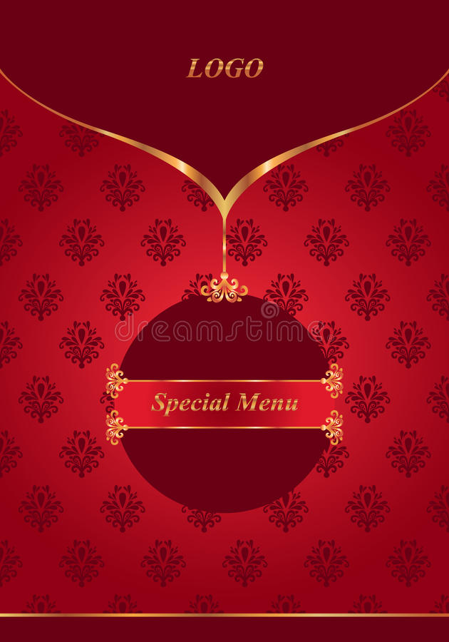 Download Red menu stock image. Image of elegance, frame, brochure - 30831211