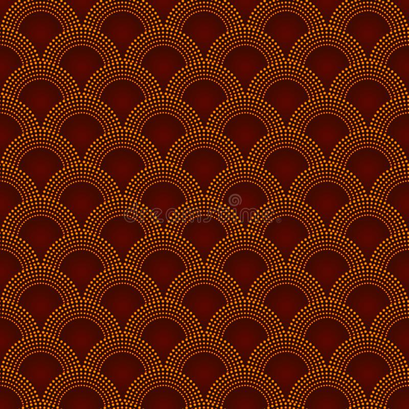 Red mermaid tail pattern royalty free illustration