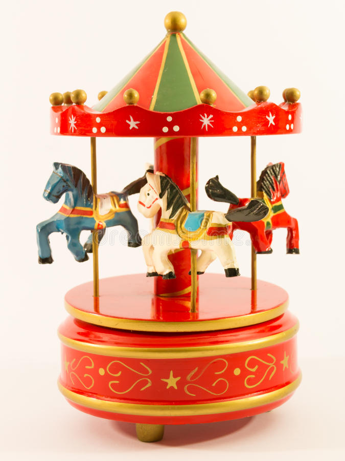Free Red Merry-go-round Horse Carillon Royalty Free Stock Photos - 46932208