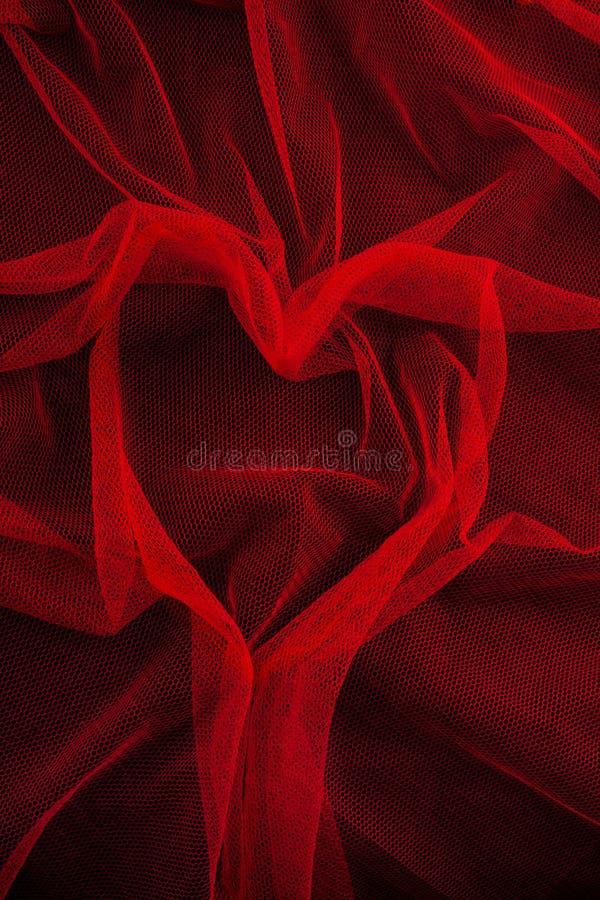 Red mesh fabric stock photo