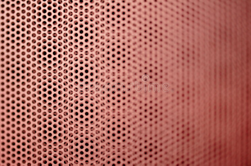 Red metal grill seamless pattern. Abstract red metal grill seamless pattern with shallow depth of field. Tilt-shift lens used to accent the specific pattern and stock illustration