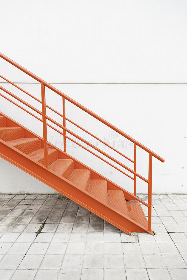 Download Red Metal Stairs On The Outside Stock Photo   Image Of Clean,  Exhibition: