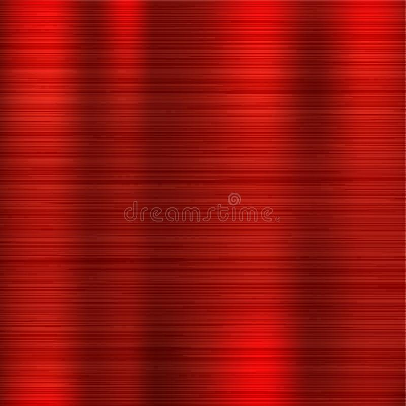 Red metal texture. Scratched shiny 3d surface royalty free illustration