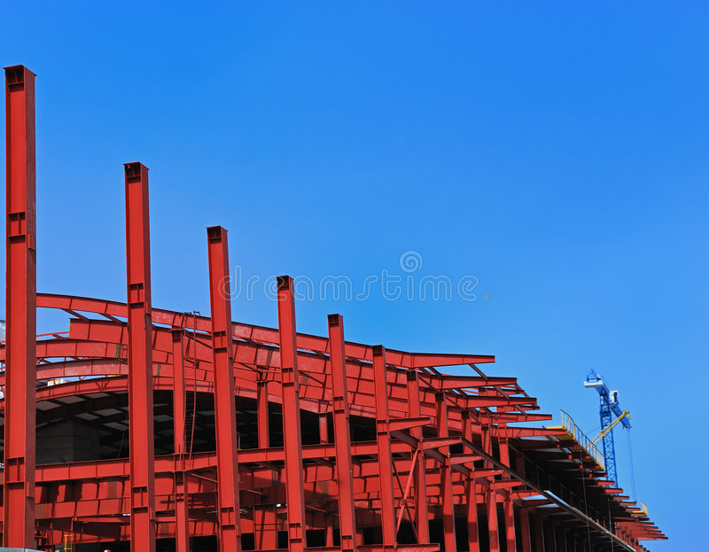 Download Red metall construction stock photo. Image of steel, shape - 5057924