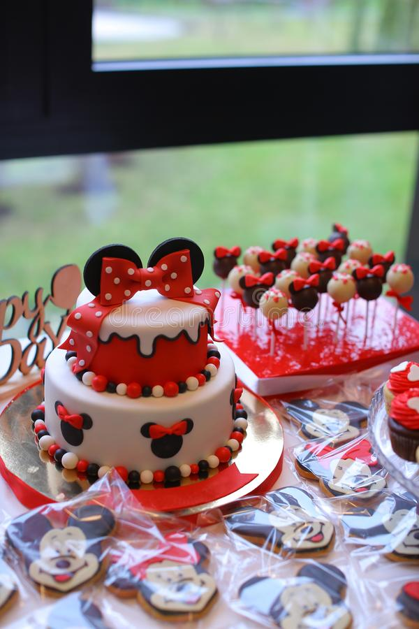Mickey mouse cake editorial stock photo  Image of children - 117786878
