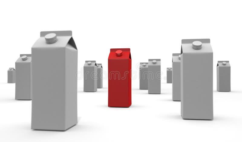 Red Milk Carton 3D illustration vector illustration