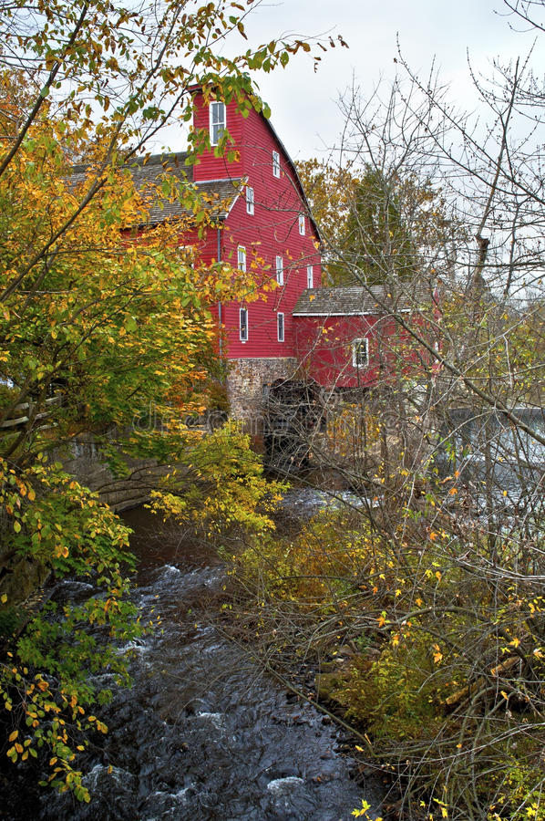 Download Red Mill Autumn stock photo. Image of historic, architecture - 27389084