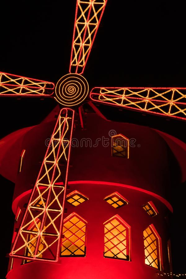 The red Mill of Paris stock photos