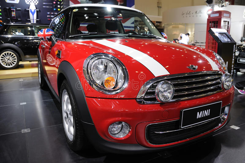 Red mini cooper royalty free stock photo
