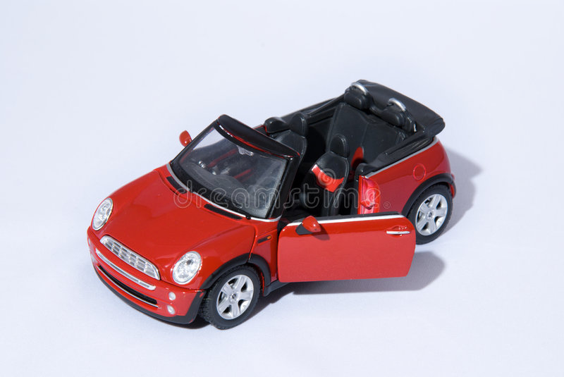 Red Mini Cooper stock photography