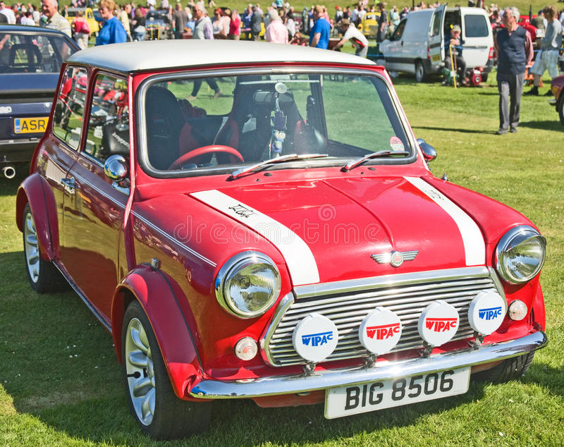 Red Mini Cooper At Forres Theme Day. Editorial Photography