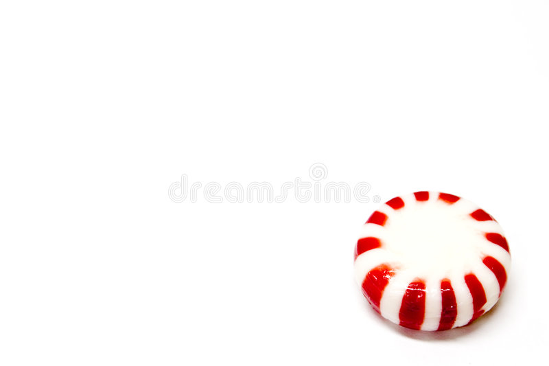 Red mint Holiday Candy stock image
