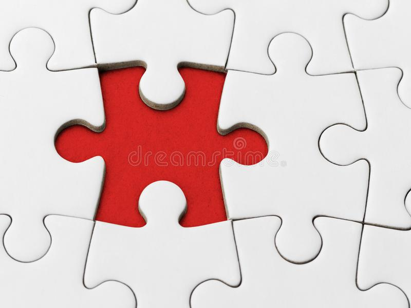 Missing Piece puzzle stock photo
