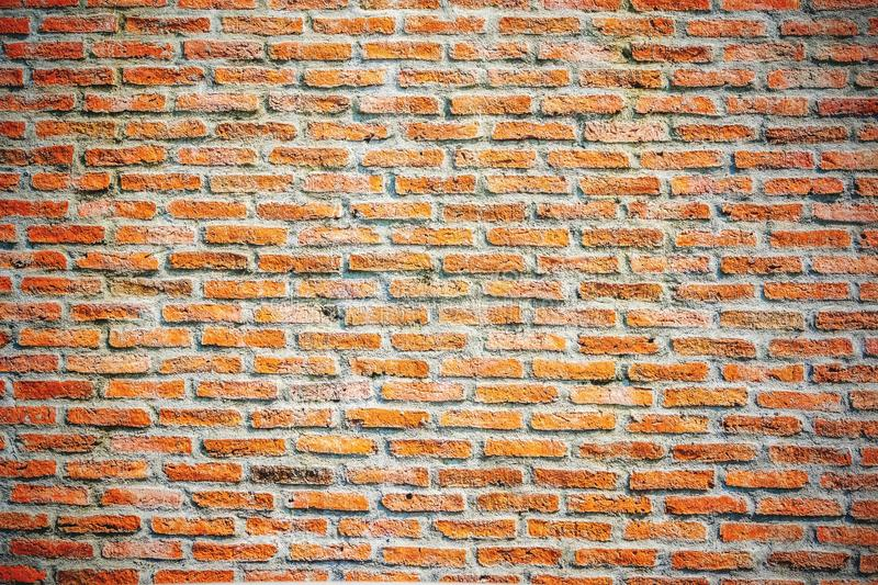 Download Red Misty Brick Wall,modren Interior Rough Texture With Vignette  For Background Stock Image