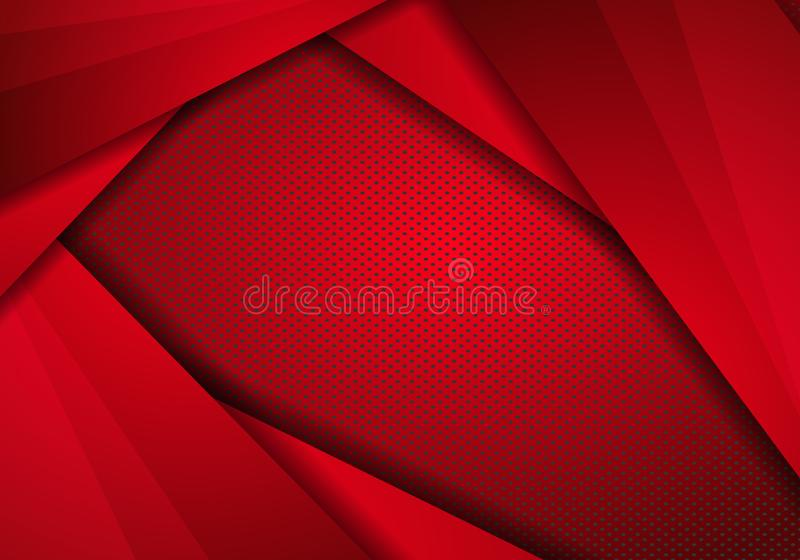 Red Modern Technology Design Background with dots Texture. abstract stainless steel metal panel with Overlay metallic texture. Pattern. Technology background vector illustration