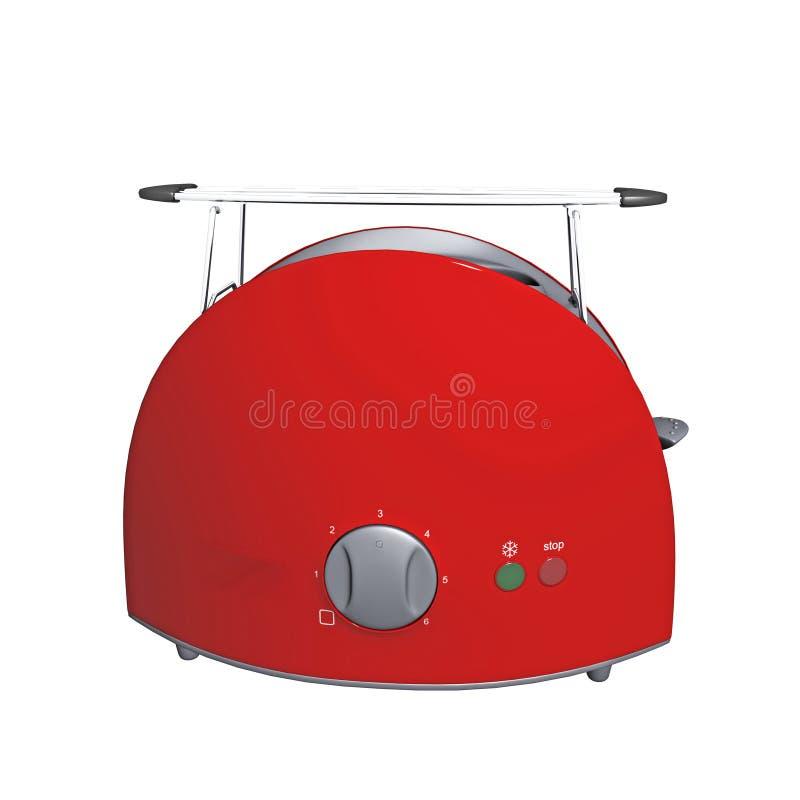 Download Red modern toaster stock illustration. Illustration of side - 16526113