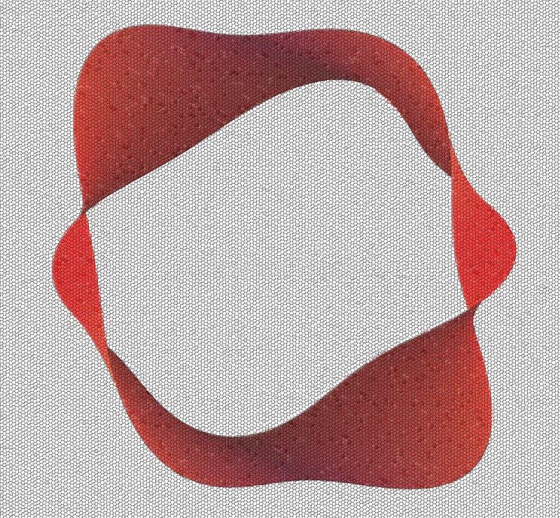 Download Red moebius mosaic stock illustration. Image of mosaic - 14355826