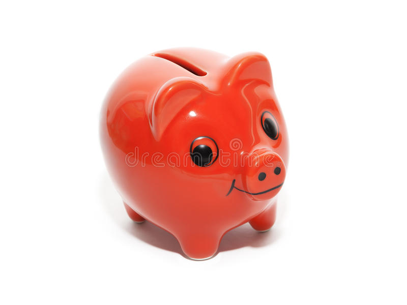 Red money pig stock photography
