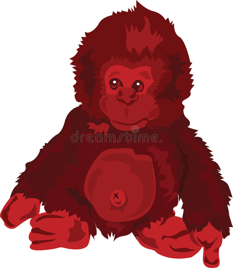 Download Red Monkey Royalty Free Stock Photo - Image: 9495625