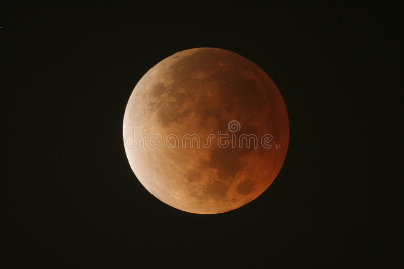 Red Moon stock image