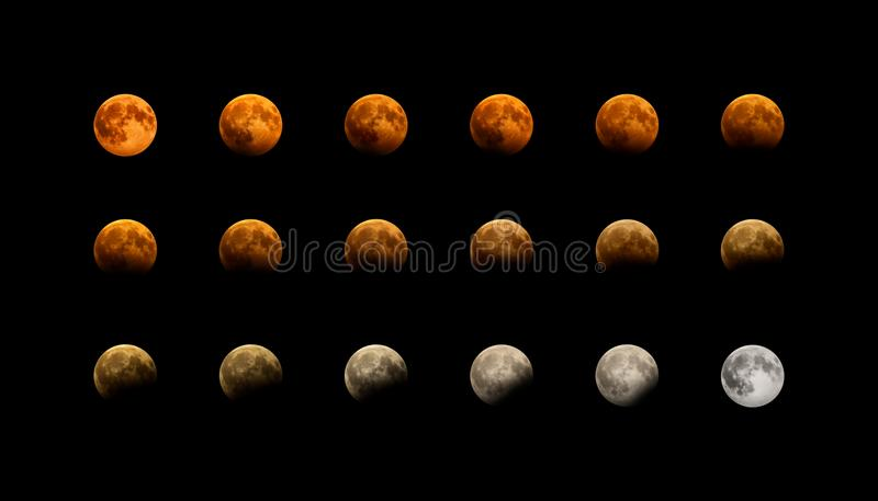 Red Moon Eclipse vector illustration