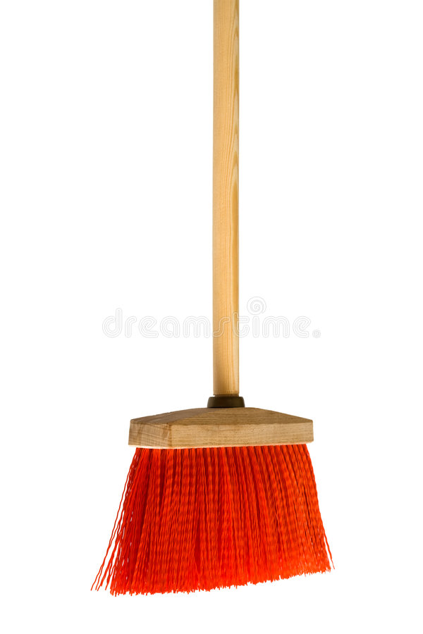 Red Broom Royalty Free Stock Photos
