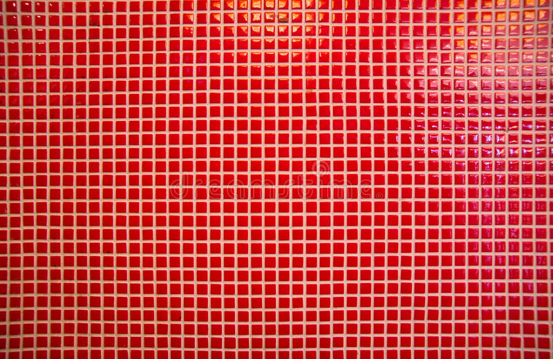 Red mosaic tiles vector illustration