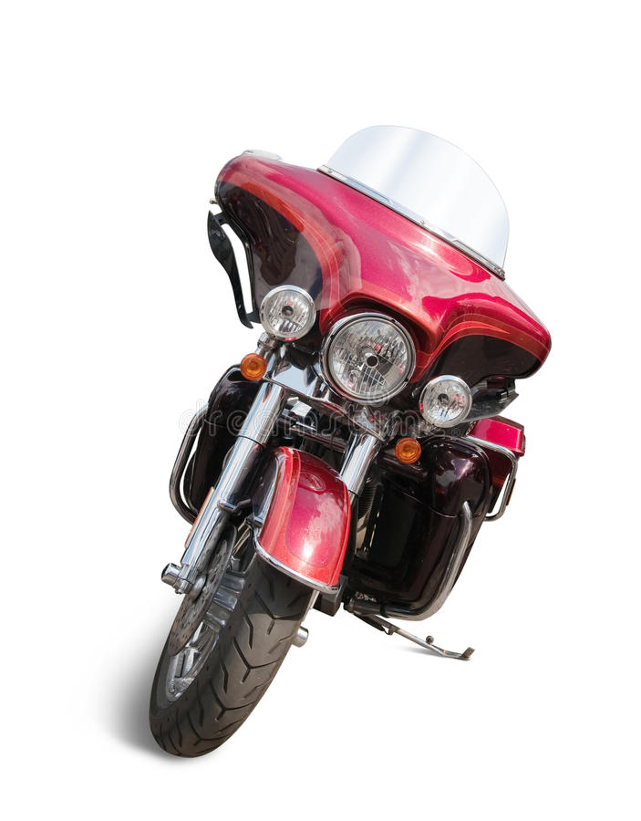 Red motorcycle stock photos