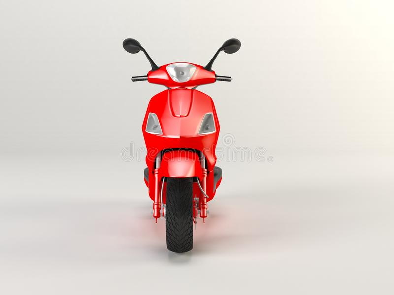 Red motorcycle isolated 3d royalty free stock image