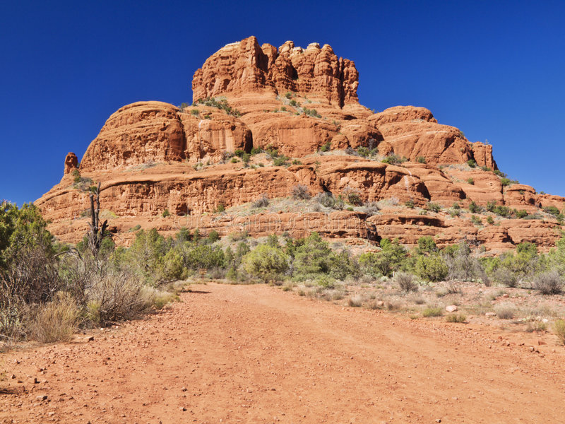 Red mountain royalty free stock images