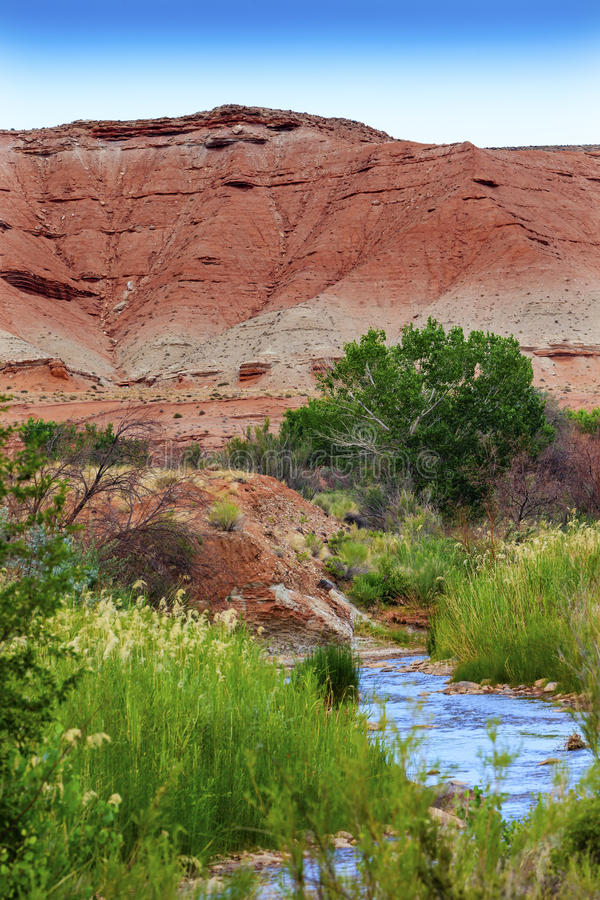 Free Red Mountain Fremont River Capitol Reef National Park Utah Stock Photos - 50838873