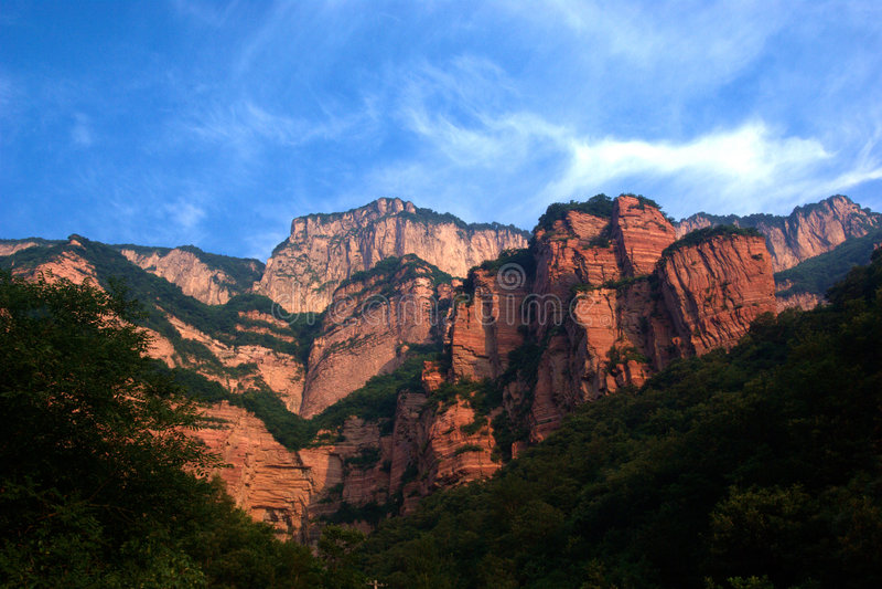 Red Mountain Of Zhangshiyan Stock Photo