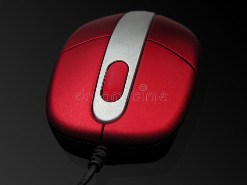 Red mouse stock photo