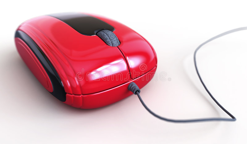 Red mouse. For your design stock illustration