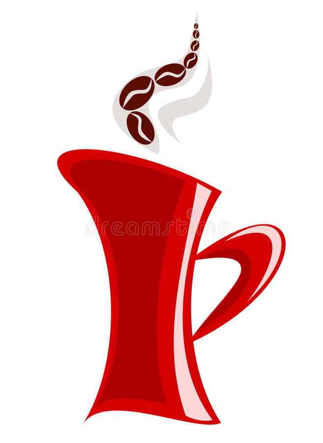 Download Red mug stock vector. Image of restaurant, illustration - 15886115