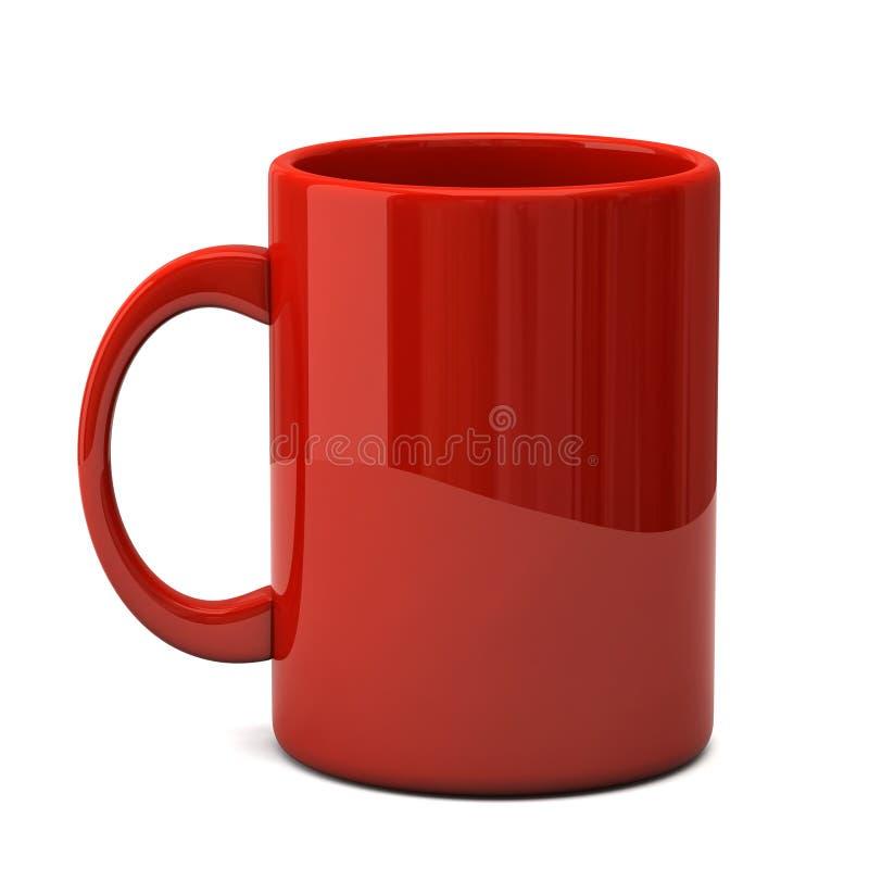 Red mug stock image