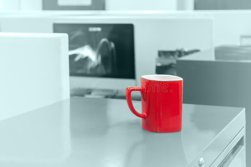 The Red Mug stock photo