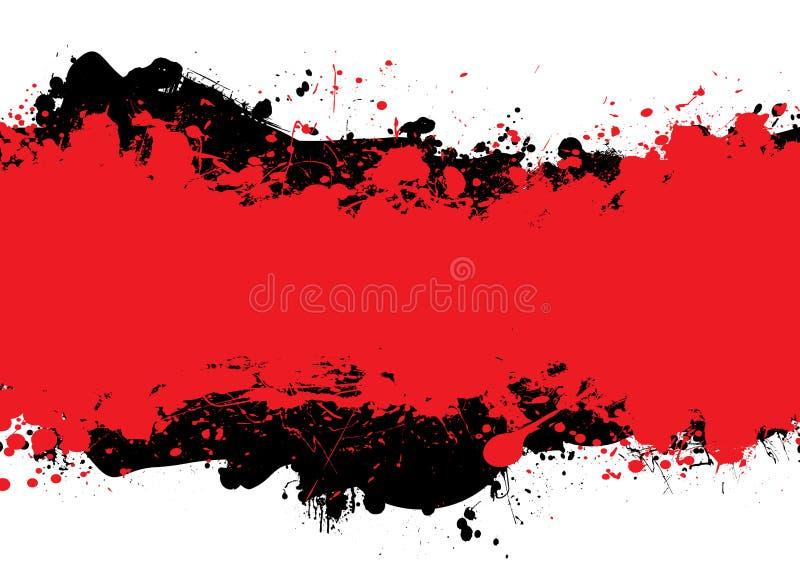 Red n black ink vector illustration